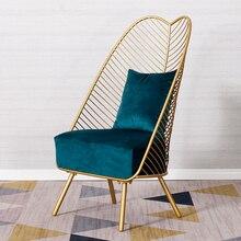 Gold Sofa Lounge Banana-Chairs Living-Room Home-Furniture Nordic Modern Sponge Customizable