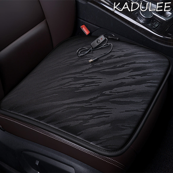 KADULEE 12V Heated car seat cover for Ford all models kuga fiesta mondeo fusion focus ranger Everest Taurus Ecosport Winter image