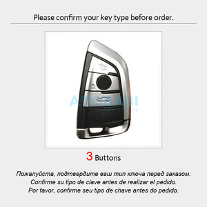 Image 2 - Leather Car Key Case For BMW 1 2 5 Series 218i X1 F48 X5 X6 F15 3 Buttons Smart Remote Control Fob Cover Keychain Protection Bag