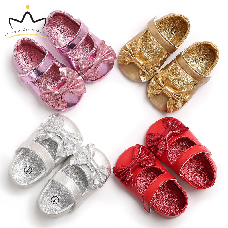 Summer New Baby Girl Shoes Cute Pink Bows Baby Shoes First Walkers Soft Soled Newborn Toddler Shoes For Infant Girls Princess