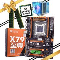 Placa base de juegos HUANANZHI deluxe X79 LGA2011 con ranura M.2 CPU Xeon E5 2690 C2 cooler RAM 16G (2*8G)