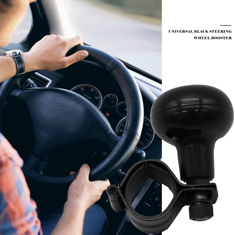 Universal Steering Wheel Spinner Heavy Duty Car Truck Handle Suicide Power Knob with Clamp Vehicles Accessories Black