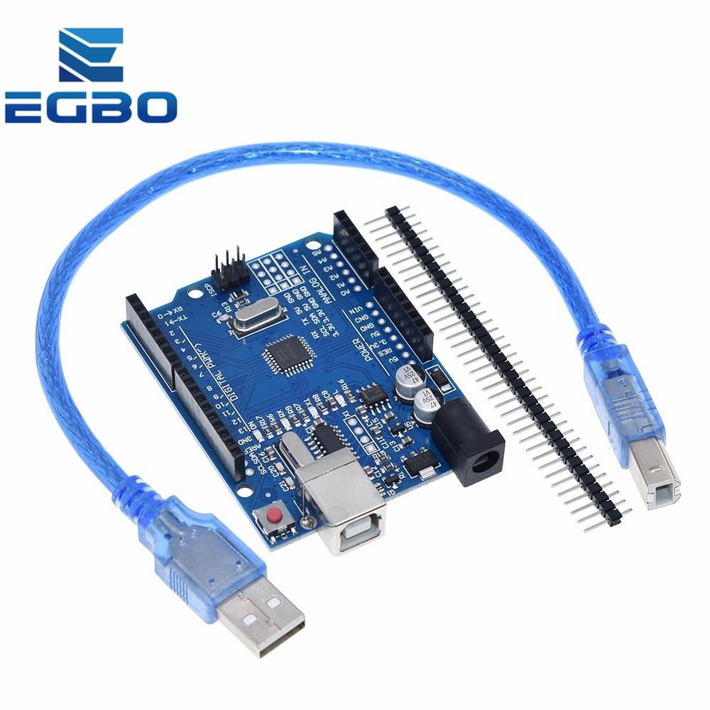 1 шт. EGBO высокого качества одного набора UNO R3 (CH340G) MEGA328P для Arduino UNO R3 + USB кабель ATMEGA328P-AU макетная плата