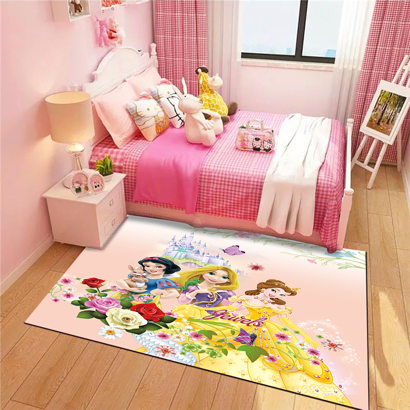 Princess Cute Mat Bathroom Waterproof Door Mat  Kitchen Rugs Bedroom Carpets Decorative Stair Mats Home Decor Crafts