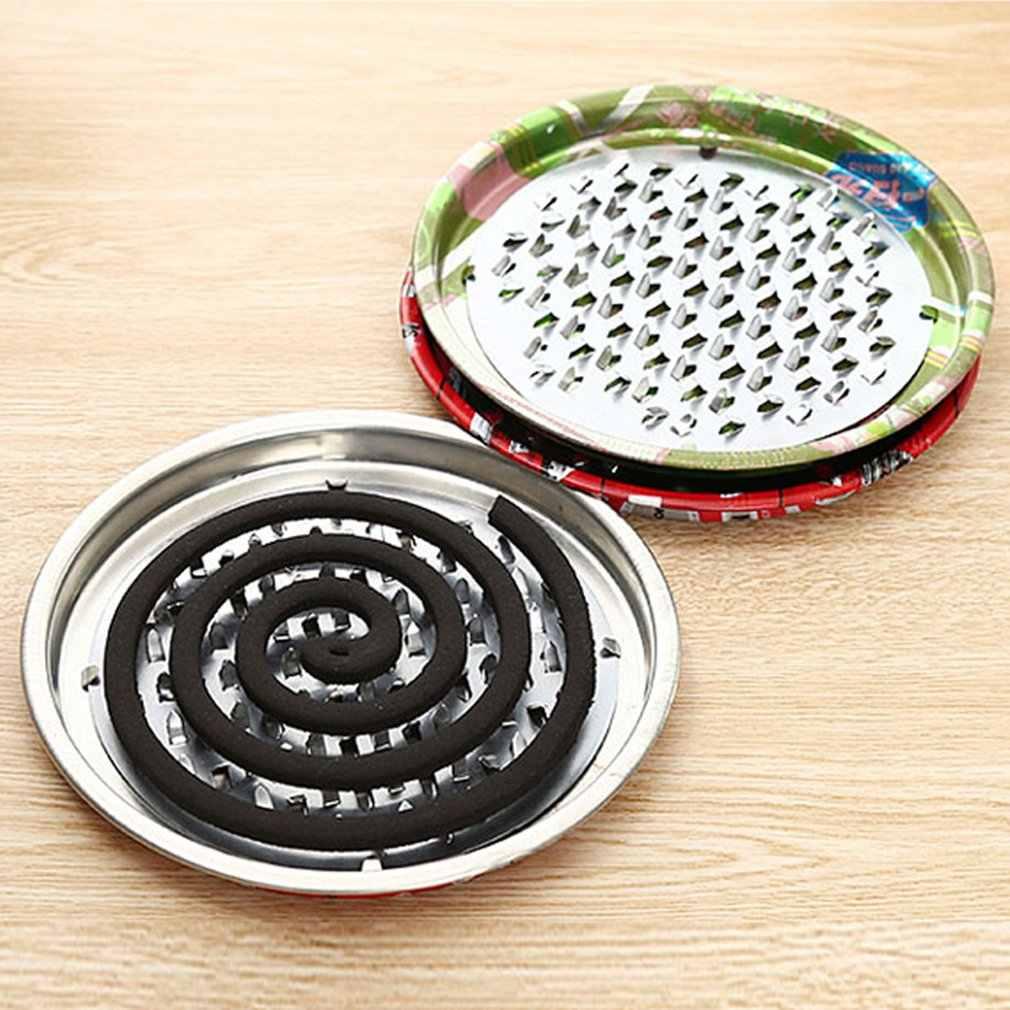 Caixa de placa de bobina de queimador de incenso decorativo dissipador suporte de bobina de mosquito aço