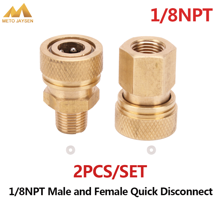 Paintball PCP Airforce 1/8NPT 8mm Female Male Quick Disconnect Connector Copper Coupling Fittings Socket 2pcs/set