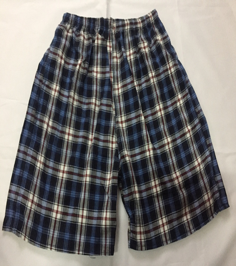 Men Cotton Beach Shorts Short Plaid Athletic Pants Casual Loose And Plus-sized Trunks Swimming Trunks Booth Goods