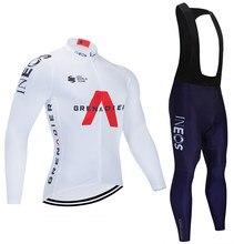 Homme vêtements de cyclisme vtt maillot à manches longues hiver thermique polaire 20D Para Hombre Gel respirant Pad hommes complet