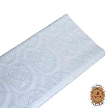 FEITEX White Color Bazin Riche Getzner African Fabric High Quality 2018 Guinea Jacquard Brocade For Men Party 10Yards / Lot