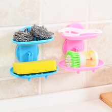 Double Layer Soap Dish Box Suction Stand Holder Bathroom Kitchen Tool Accessory new