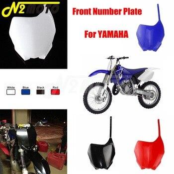 For YAMAHA YZ125 YZ250 YZ250F YZ450F WR250F WR450F YZ 125 250 250F 450F WR 250F Motocross Plastic Fairing Front Number Plate 4 directions cnc foldable pivot brake lever for yamaha yz125 yz250 yz250f yz450f yz426f yz250fx motocross supermoto dirt bike