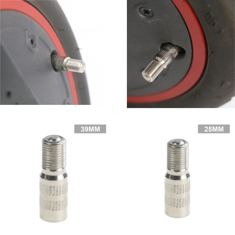 Extend The Valve Inflatable Air Nozzle Replacement Fit for Xiaomi M365 / Pro Scooter Front Wheel Motor Inflatable Extension Air