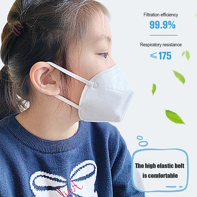 7PCS/Lot KN95 Child Masks 4 layer Filter PM2.5 Anti-Dust Prevent infection Flu Baby Children Mouth Face Mask Breathe Safely 1