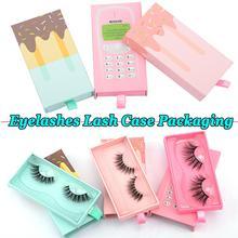 Cute Mobile Phone and Ice cream Shape Eyelashes Lash Case Empty False Eyelashes Packaging Box Contai