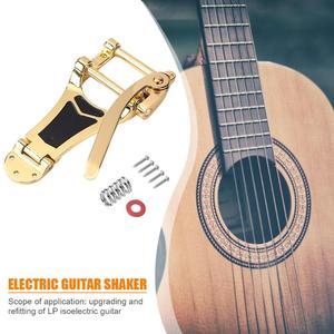 Image 4 - Запасные части для электрогитары Vibrato LP, отличные сплавы, золотой, серебряный и черный, запорный мост, кривошипная планка