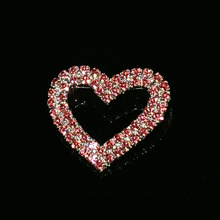 цена на Rhinestone Handmade Pink Heart Lapel Pin Blingbling Crystal Jewelry&Accessories Unique Mary Kay Souvenir Gift WHOLESALE