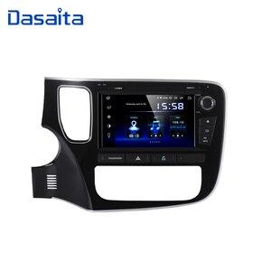 "Image 1 - Dasaita 8 ""Android 10 Octa çekirdek araba GPS Mitsubishi Outlander 2014 için DVD OYNATICI Stereo oto radyosu kafa ünitesi multimedya Video"
