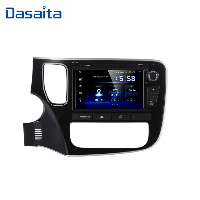 "Dasaita 8 ""Android 10 Octa çekirdek araba GPS Mitsubishi Outlander 2014 için DVD OYNATICI Stereo oto radyosu kafa ünitesi multimedya Video"