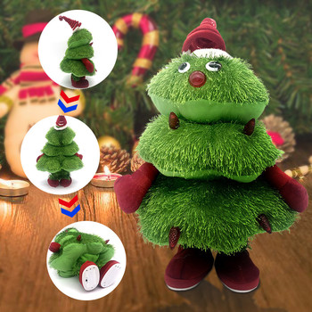 Elektryczne choinki śpiewające i tańczące choinki elektroniczne pluszowe zabawki dla dzieci świąteczne prezenty śmieszne zabawki # L40 tanie i dobre opinie ISHOWTIENDA Tkaniny CN (pochodzenie) none Unisex Children s Christmas Gift 3 lat