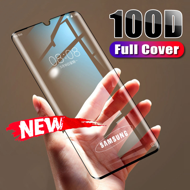 100D Full Protective Glass On For Samsung Galaxy A50 A30 A80 A90 Screen Protector For M10 M20 M30 M40 A40 A10 A20 A60 A70 Glass
