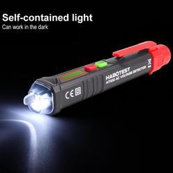HABOTEST HT100 Multi-função Não-contato com Display Digital AC 12V-1000V 48V-1000V Teste de Tensão Caneta Detector com LED Som do Alarme