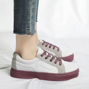 Image 5 - New Brand Shoes Women Vulcanized Canvas Casual Sneakers Fashion Lace Up Shoes Ladies Footwear Female Tenis Feminino Ayakkabi