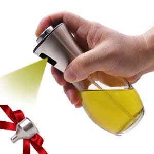 Olive Oil Sprayer Dispenser For Bbq/Cooking/Vinegar Glass Bottle With Leak-Proof, Spice Drops Jar Seasoning Kitchen Tools