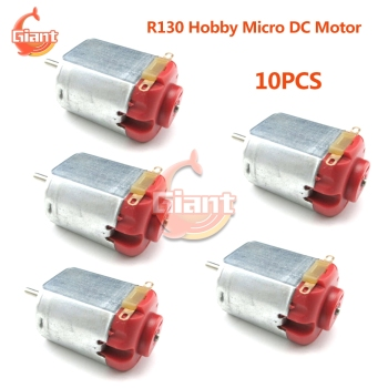 10pcs/lot Hobby Motor 130 3V-6V 0.35-0.4A 8000RPM Mini DC Motor Micro DC Motor for DIY Toys Hobbies Smart Car 5V image