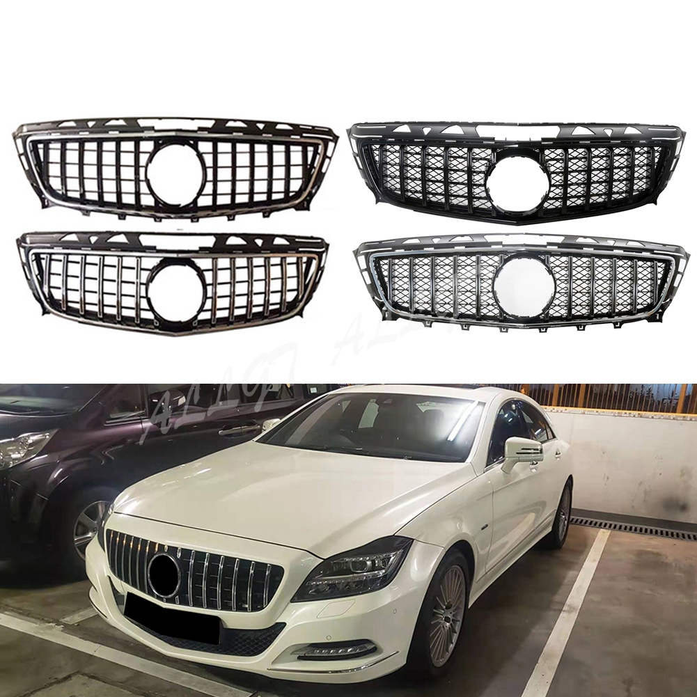 Front Racing Billet Bumper <font><b>Grille</b></font> Upper Cover For Mercedes-Benz For Mercedes-Benz <font><b>W218</b></font> CLS Class 2011 2012 2013 2014 GTR image