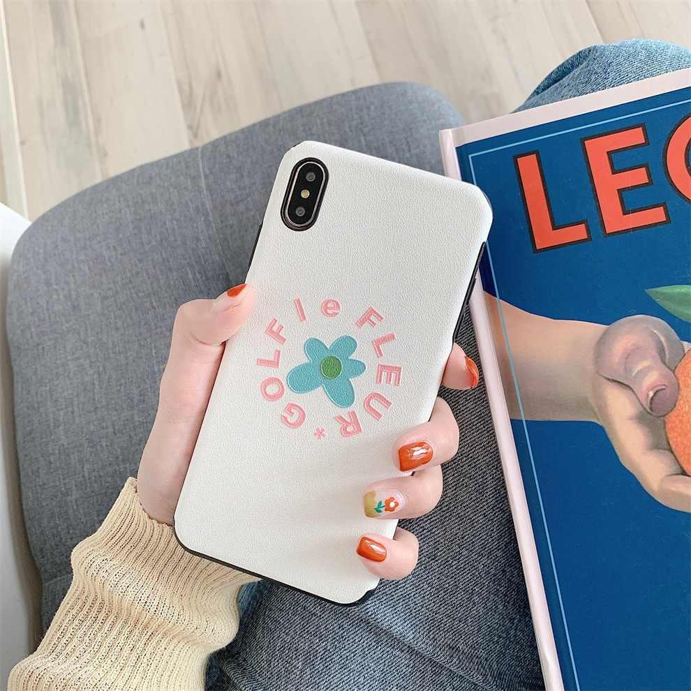 Dtfq fresco elegante flor floral bonito adorável tpu caso macio para iphone 11 pro 7 8 plus 6s silicone capa para iphone xr xs max x