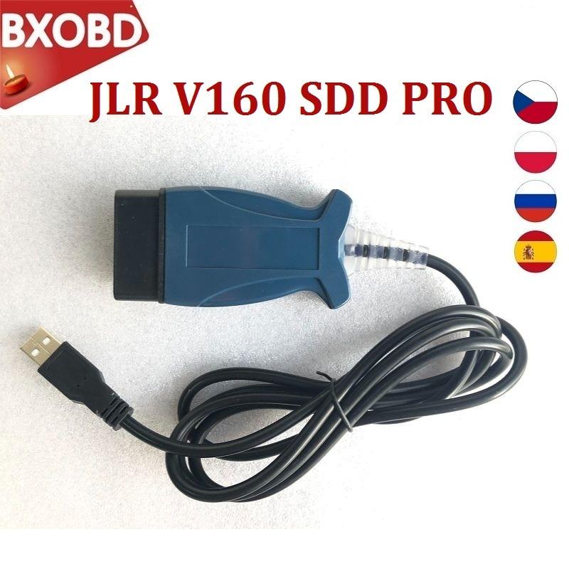 Автомобильный диагностический инструмент JLR V160 SDD PRO V160 JLR Pro для Land Rover JLR Поддержка до 2017 года для JLR SDD V160 для Jaguar OBD2 сканер