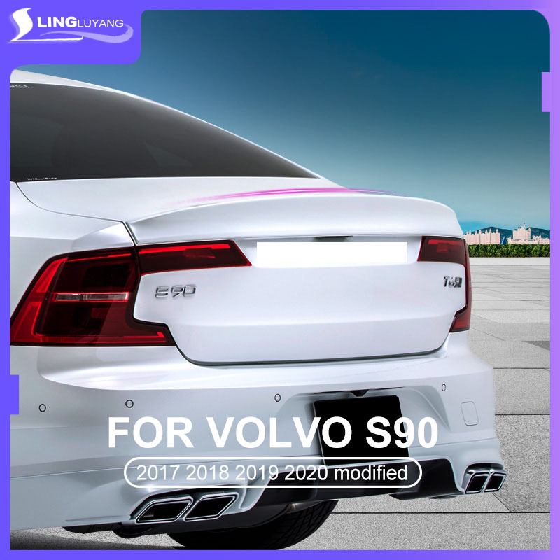 for Volvo s90 modified rear wing special spoiler 2017 2018 2019 2020 s90 accessories decoration Car accessories sticker