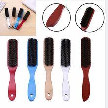 Manche en bois brosse à cheveux dur sanglier poils peignes pour hommes femmes coiffure coiffure barbe peigne brosse