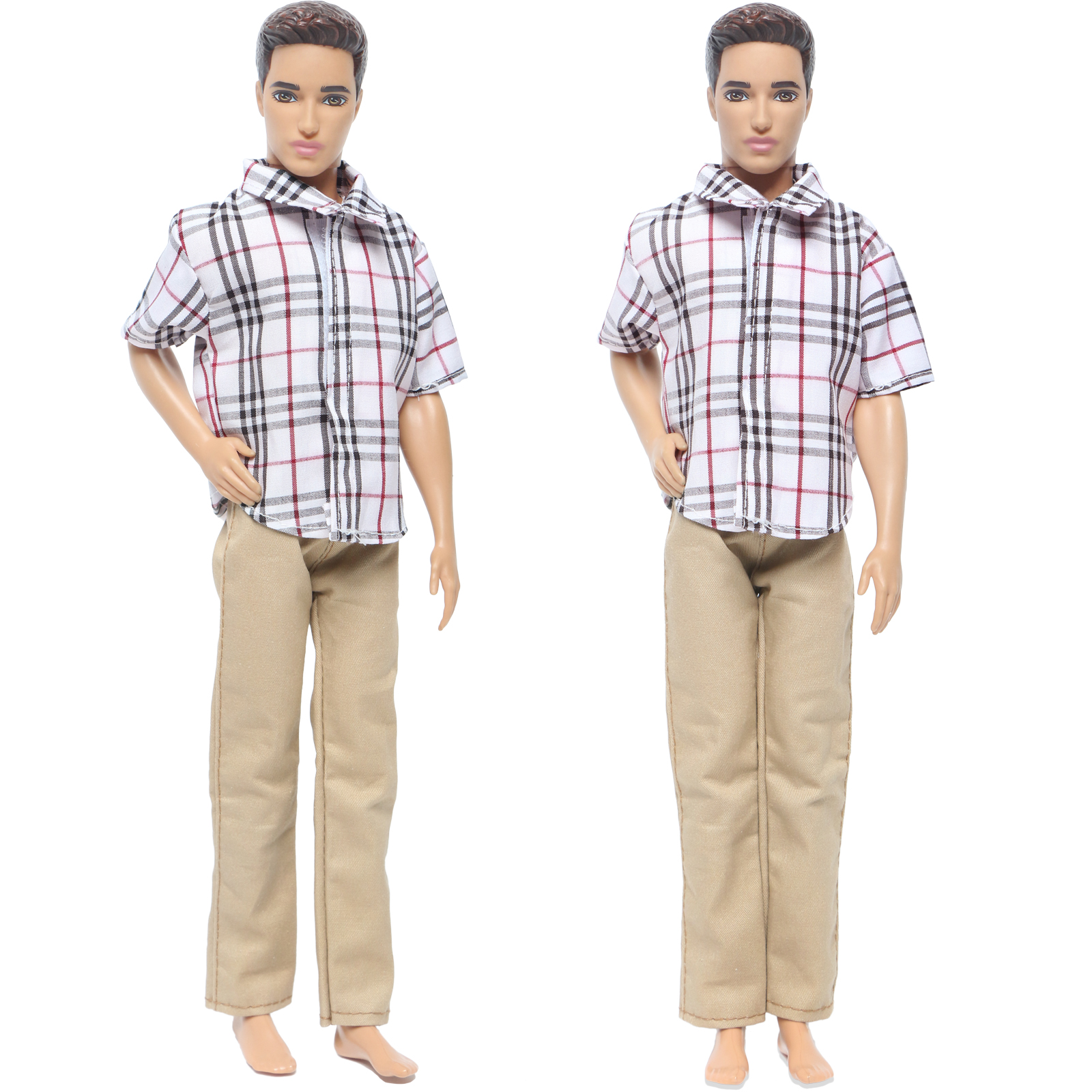 Handsome Men's Outfit High Quality Shirt Khaki Trousers Pants Wedding Party Wear Clothes For Barbie Doll Friend Ken Accessories