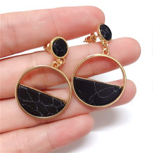 Big Vintage Earrings For Women Gold Color Geometric Statement Metal Earring Hanging Fashion Jewelry Trend Erdrop