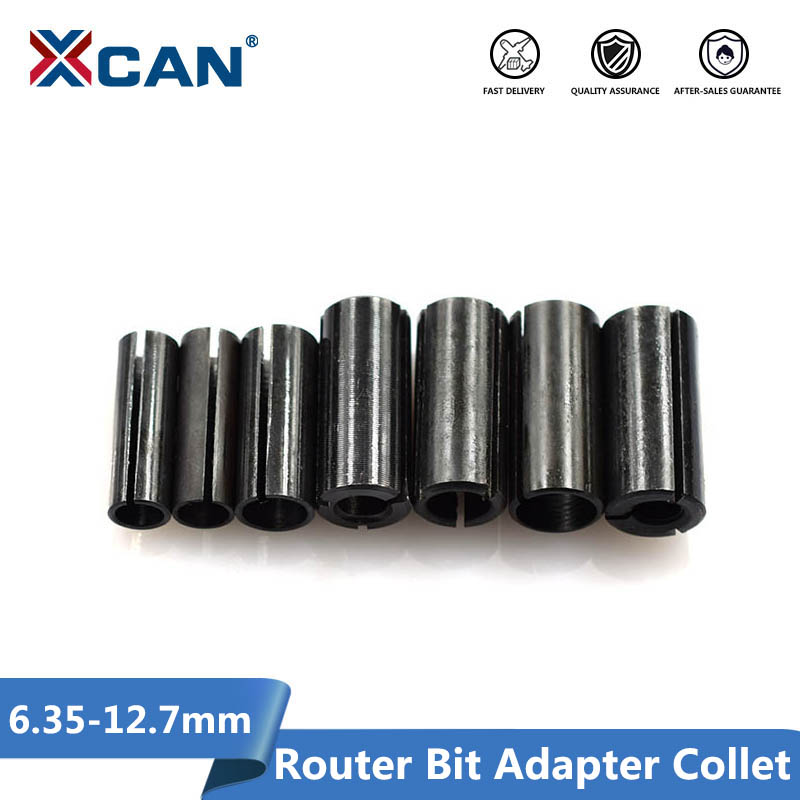 XCAN 1pcs Adapter Collet Shank CNC Router Tool Adapters Holder 8mm Change To 6mm/ 8-6.35/ 9.5-6.35/ 10-8/12-6 8 10/12.7-6 6.35mm