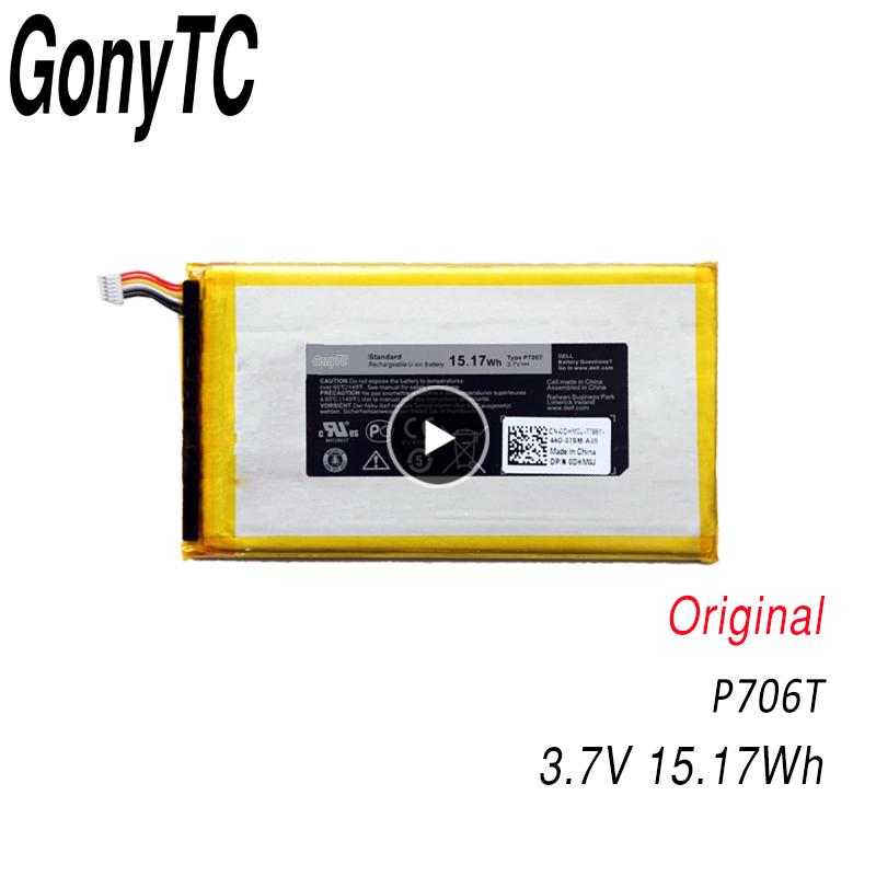 GONYTC P706T New original Tablet <font><b>Battery</b></font> for Dell Venue 7 8 3730 3830 0CJP38 <font><b>3.7V</b></font> 15.17Wh/<font><b>4100mah</b></font> image