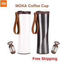 Xiaomi Kuss Kuss Fisch Edelstahl Thermische Vakuum Wasser Flasche 430ml Oled-bildschirm Temperatur Protable Tasse mit Kaffee Brewer