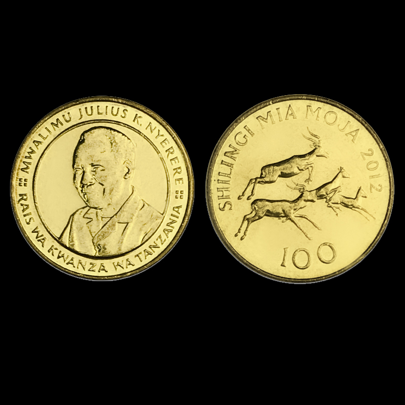 Tanzanian 100 Shilling 2012 Genuine Original Coins 100% Real Issuing Collection Coins Unc Africa