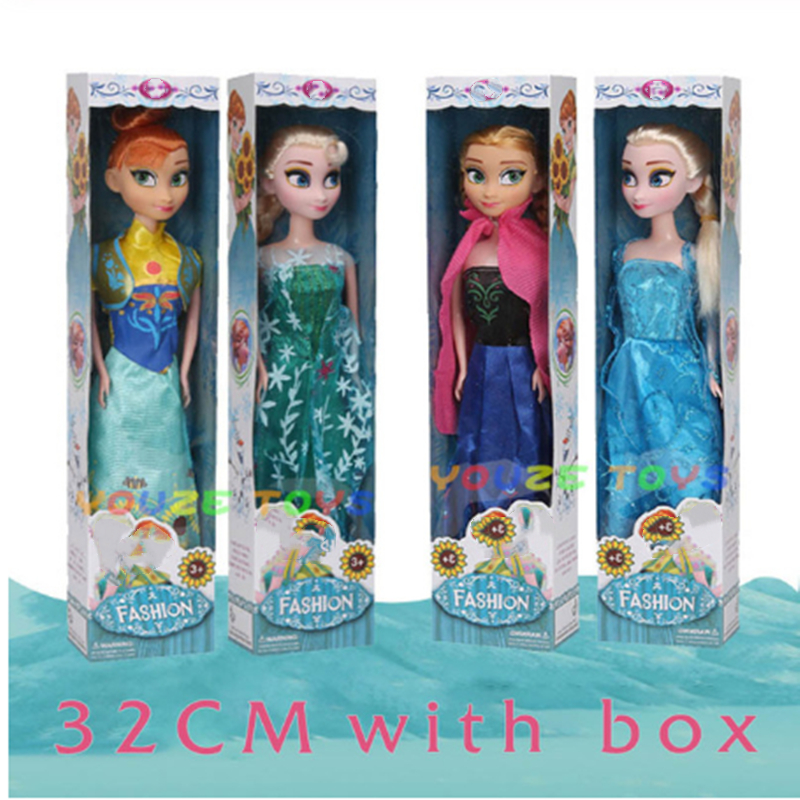 32cm Four Styles Anna Elsa Dolls Boneca Icy Doll Princess Snow Queen Girls Toys For Kids High Quality Dolls