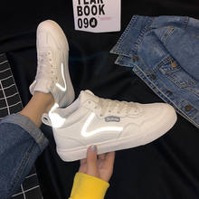 High-top shoes women's autumn 2020 new leather female student trendy shoes all-match Korean casual white shoes(China)