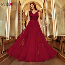 Prom Long Elegant Dresses Ever Pretty EP07303 V-neck Sleeveless A-line Tulle Teal Prom Dresses 2020 Pink Sexy Vestido Formatura cheap Ever-Pretty NONE Floor-Length Sashes simple empire EP07303OD Polyester prom dresses 2019 vestidos de fiesta largos vestidos de gala