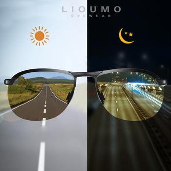 LIOUMO Brand Rimless Photochromic Sunglasses Men Polarized Chameleon Glasses Women Driving Goggles Sun zonnebril heren