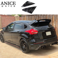 цена на fit for Ford Focus ST RS Hatchback Carbon fiber color Window Side Louvers Vent 2012 2013 2014 2015 2016 2017 2018 ABS