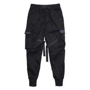 Image 5 - Aelfric Eden Bänder Hüfte Hop Cargo Hosen Männer Schwarz Tasche Streetwear Harajuku Techwear Hosen Hosen Harem Jogger Jogginghose