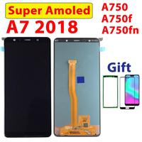 Super AMOLED Display For Samsung Galaxy A7 2018 LCD For Samsung A750 Display Touch Screen Digitizer A750F Assembly LCD