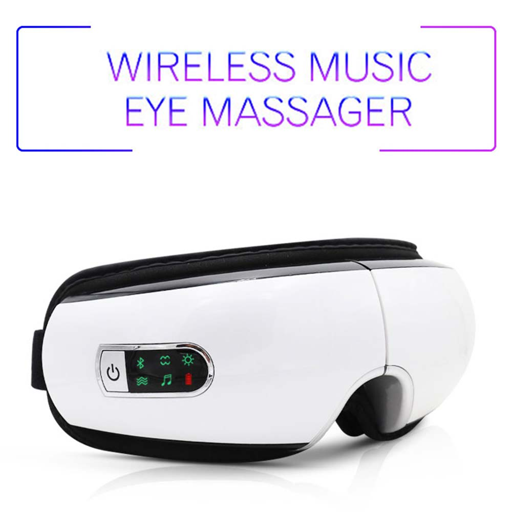 Bluetooth Eye Massager Air Pressures Eye Care Device Wrinkle Fatigue Relieve Eye Vibration Massage Hot Compress Therapy Glasses
