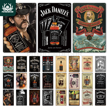 Whiskey Metal Tin Sign Plaque Metal Vintage Pub Retro Tin Sign Wall Decor for Bar Pub Club Man Cave Decorative Plates whiskey vintage metal sign tin sign plaque metal vintage retro wall decor for bar pub club man cave metal signs poster