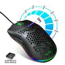 Новейшая модель; 6400 Точек на дюйм соты игровой Мышь 6 кнопок