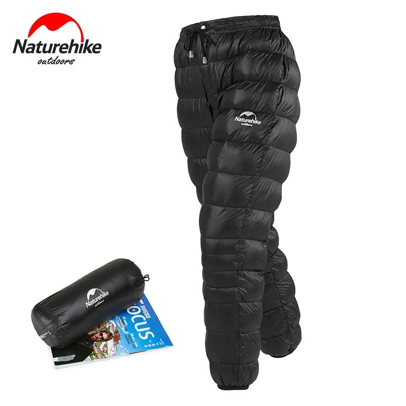 Naturehike Winter Men Women Goose Down Pants Outdoor Camping Skiing Pants Thicken Waterproof Trousers